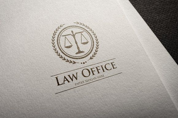 Law Office Logo by It's a Small World on @creativemarket