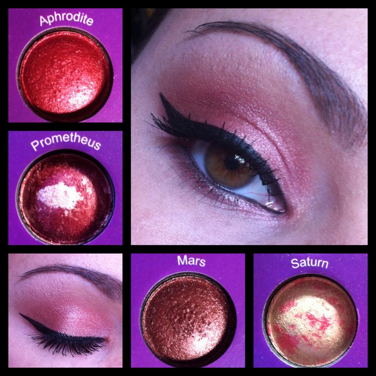 Shimmery red. Using BH Cosmetics Galaxy Chic Palette