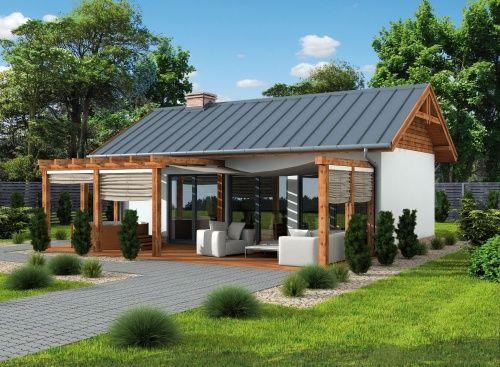 Dwuspadowy dach sprawia, że ten dom letniskowy sprawdzi się zarówno nad morzem, jak i w górach. To wymarzone rozwiązanie dla par i rodzin a także Inwestorów chcących prowadzić działalność turystyczną, i oferować wynajem tego typu obiektów.