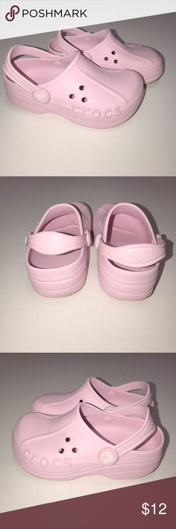 Pink Crocs • Gently used • Size 10/11 C • Scuffs & imperfections pictured • CROCS Shoes