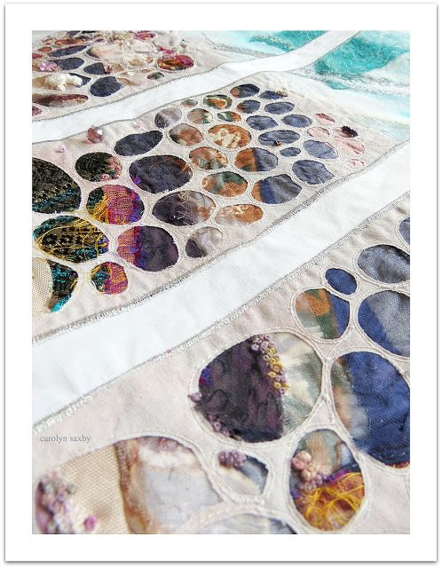 Carolyn Saxby - stitching a purple sea garden and other dreamy thoughts
