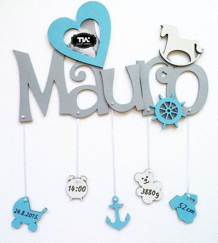 #mauro #name #babyboy #beba #decak #homedecor #frame #photoframe #baby #decak #ram #slika #rodjendan #birthday #blue #plavo#siro#grey #sivo #srce#heart # #lasercutting #lasercut #tmcraftroom #design #kids #wood#anchir##rudder by tm_craft_room