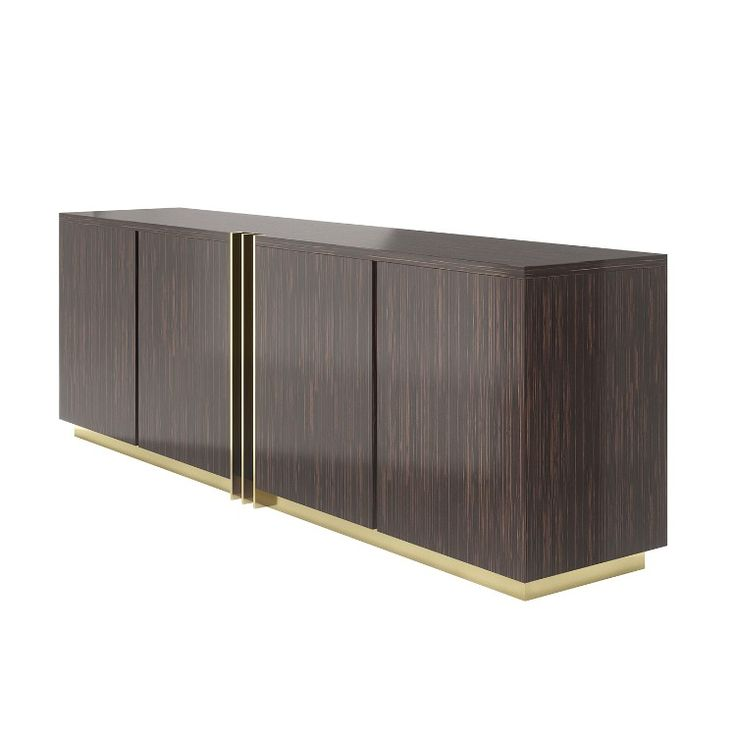 Shop the Look: Golden Details for a Stunning Dining Room Decor - D'Arc sideboardis a solid wood sideboard resembles the brown armor, as well as the gold details, pay tribute to the sword of the heroine. All materials are customizable making it possible to fit any décor. A stunning interior design piece that can stand out in every interior design.