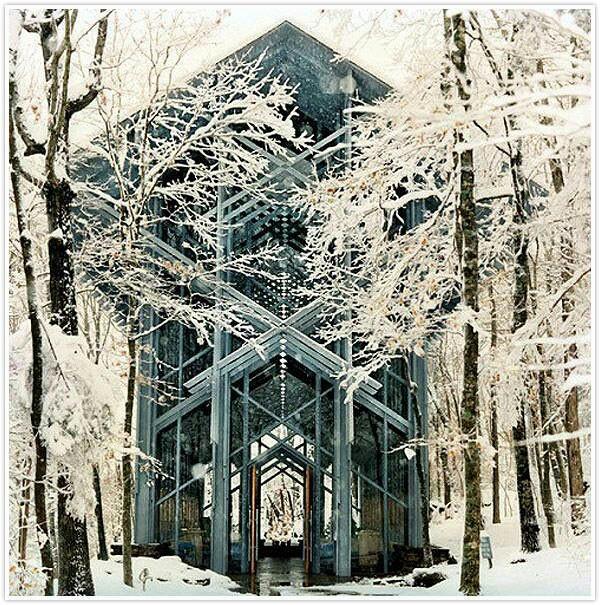.: Eureka Spring Arkansas, Thorncrown Chapel, Crowns, Church, Dreams Wedding, Beautiful Places, Winter Wedding, Photo Galleries, Winter Houses