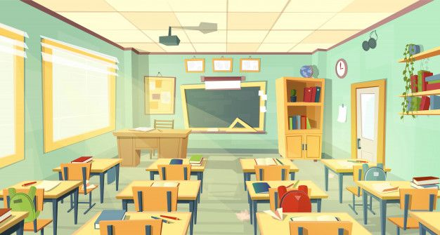 Download School Classroom Interior University Educational Concept Blackboard Table For Free In 2020 School Classroom Classroom Architecture Classroom