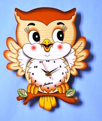 Bartolucci Pendulum Owl Clock