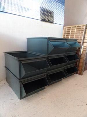 スチールスタッキングボックス「古き味わい深き物 工業系インダストリアル 通販 (詳細) 」名古屋 パームスプリングス|ミッドセンチュリー家具 ビンテージ家具|アメリカ家具