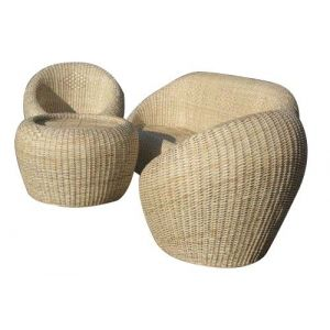 Bengal Basket  S02 Cane Sofa and Chair set(1+3)