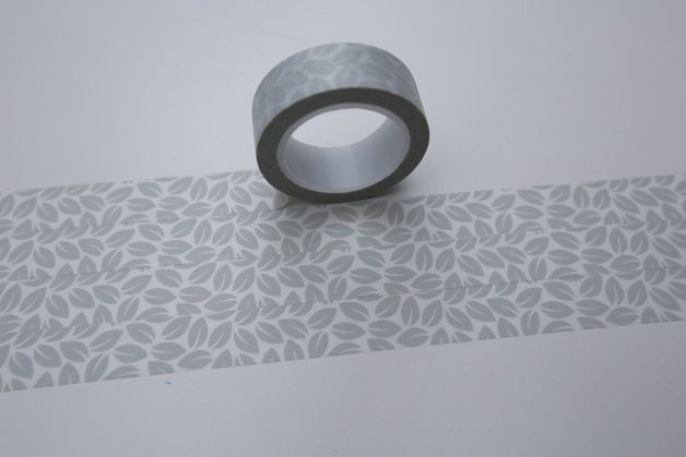 Weihnachtsmaterial - Tape GRAU Blätter Blatt Herbst transparent - ein Designerstück von bespokedesign bei DaWanda