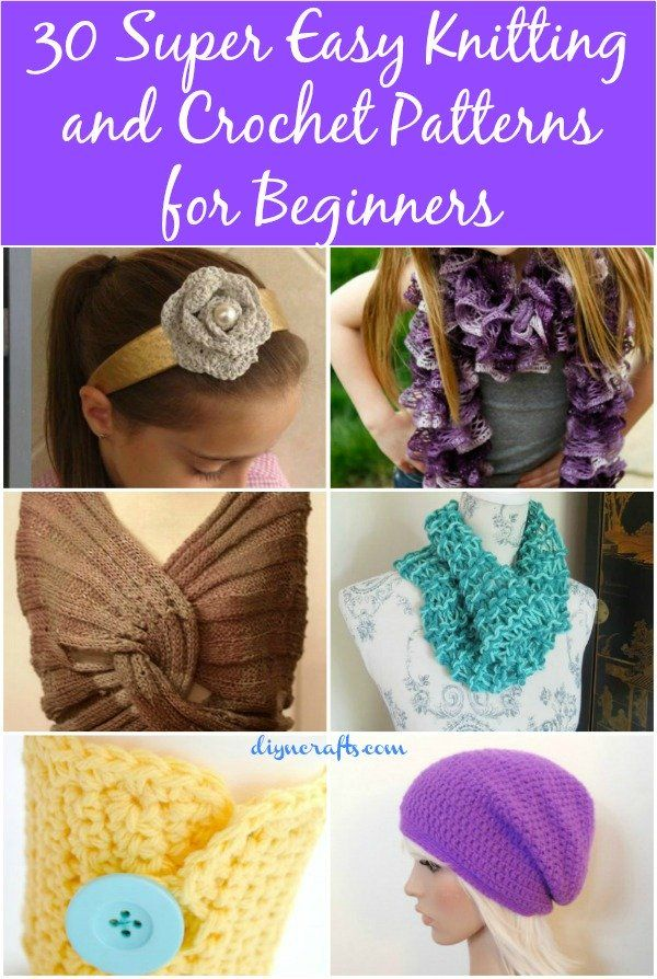 Easy Knitting Crafts For Beginners : Super easy knitting and crochet patterns for beginners