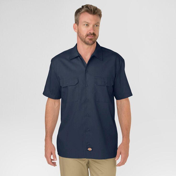 Dickies Men's Big & Tall Original Fit Short Sleeve Twill Work Shirt- Dark Navy Xxxl Tall