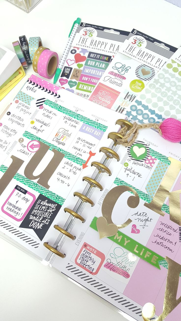 'lucky' St. Patrick's Day week in The Happy Planner™ of mambi Design Team member Kiara Vega | me & my BIG ideas