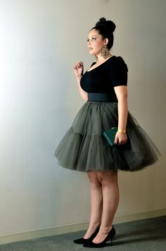 Plus Size Fashion. This outfit is beautiful, who said plus size women can't wear a tutu.