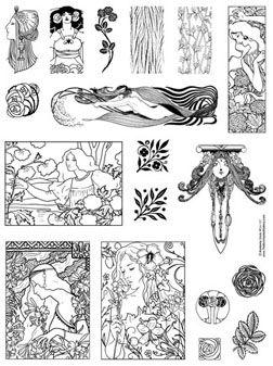 Art Nouveau Flower Designs