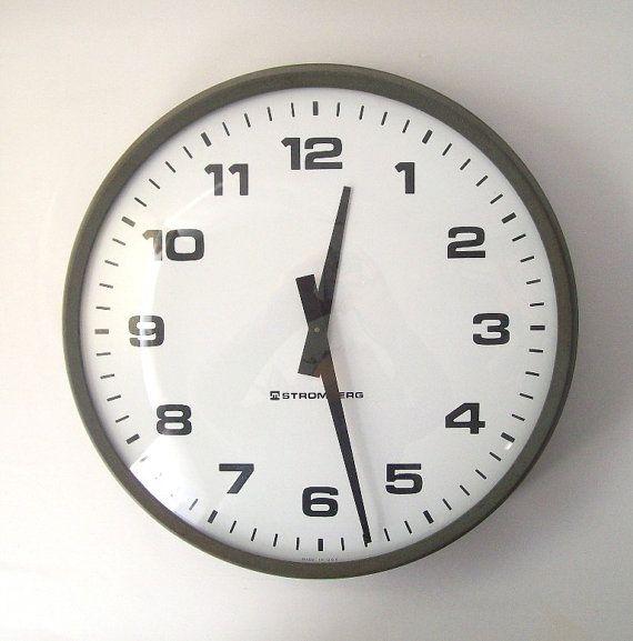industrial wall clock digital large metal clocks vintage australia