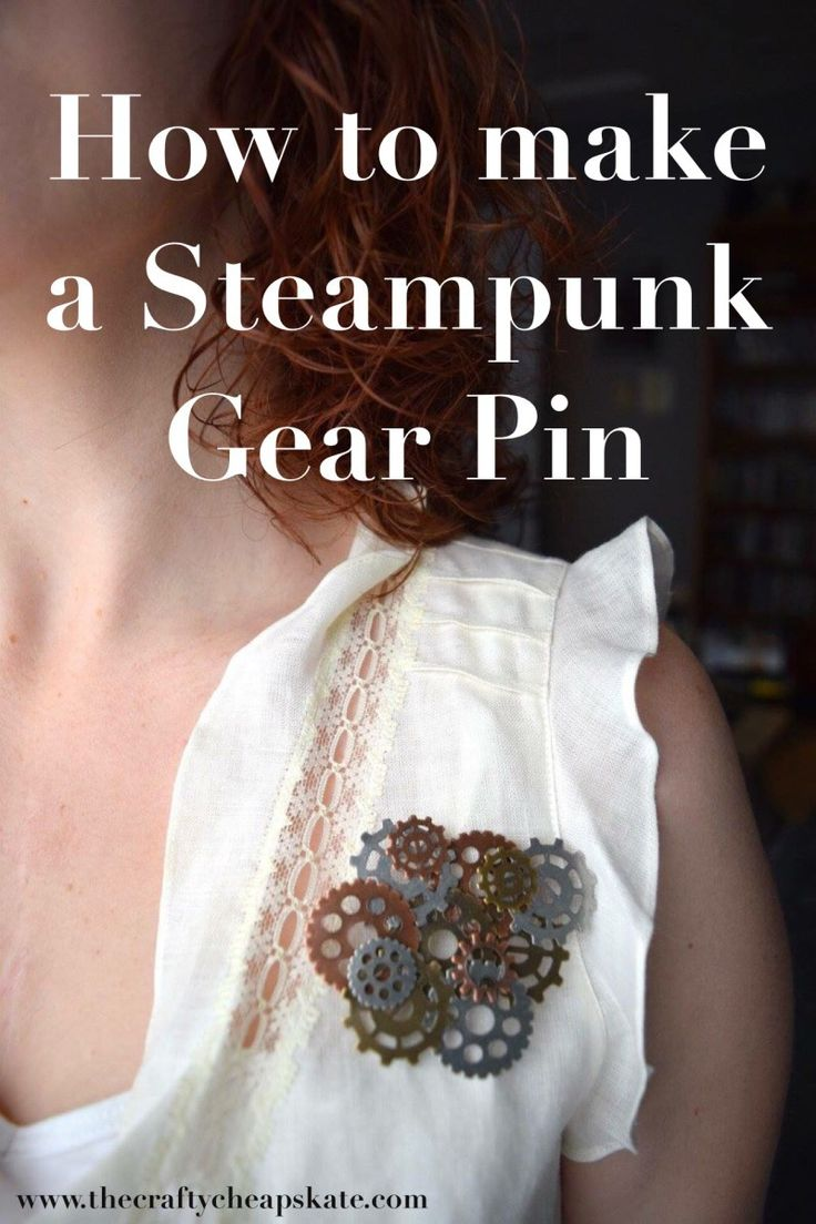 How to make a Steampunk Gear Pin