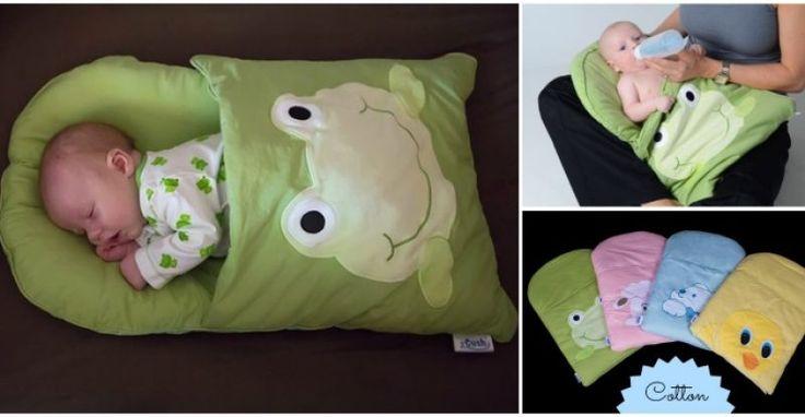 Ce confortable sac de couchage taie bébé DIY est une structure légère, 4 coins de mat conçu pour placer un nouveau-né pour le confort et la sécurité. Vous