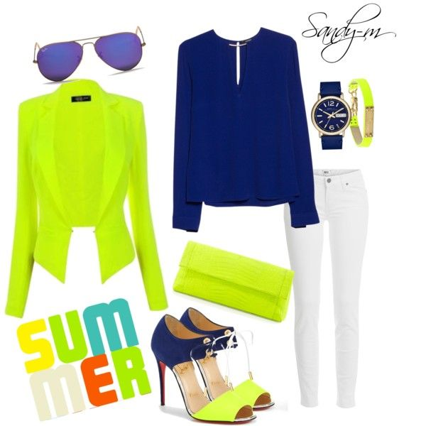Neon Summer vacation outfit louboutin