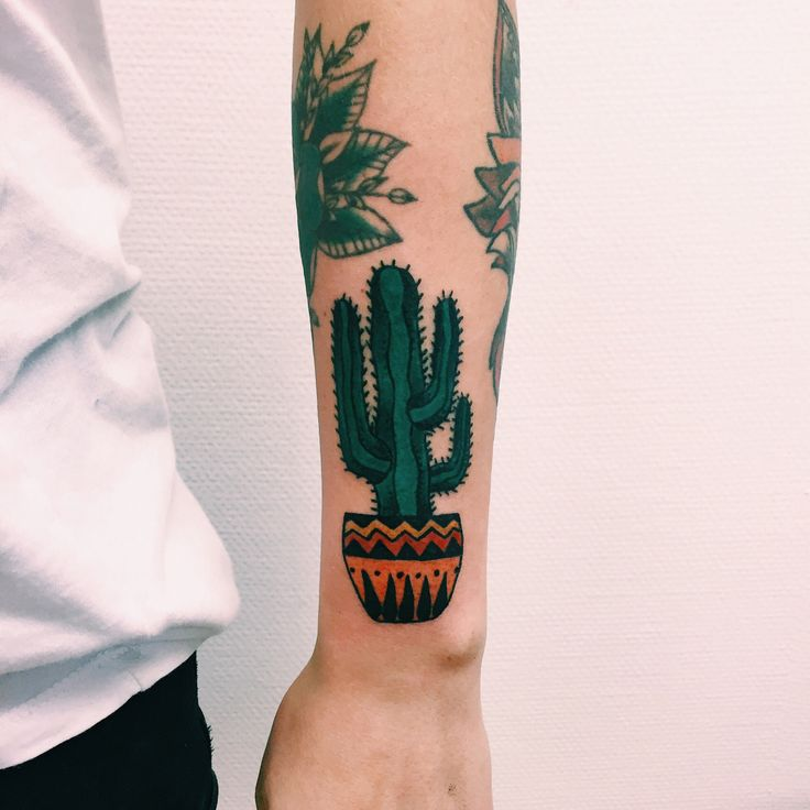 southern❁❀✿ cactus tattoo