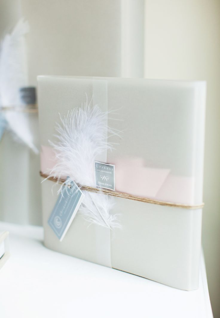 I love wrapping and embellishing the finished product for my clients with cute little touches like this.