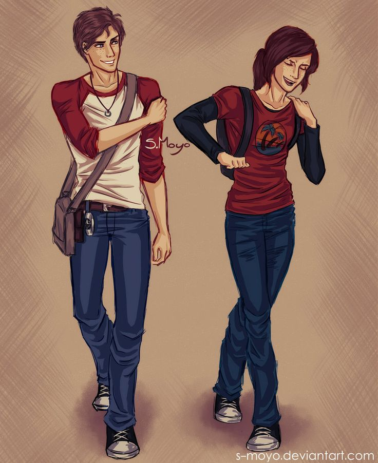 Nate and Ellie by S-Moyo -- The Last of Us and Uncharted 3 -- They would get into so much trouble together, and then Joel and Sully would end up bonding over their shared exasperation with their insane children.