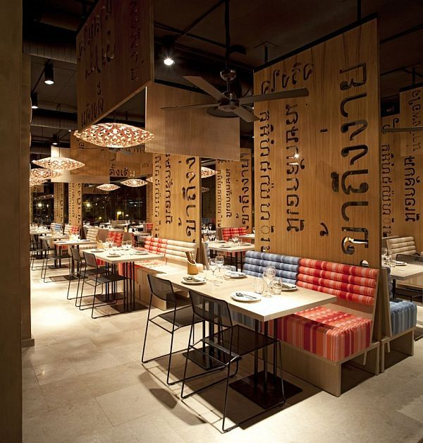 Asian interior design for LAH! Restaurant