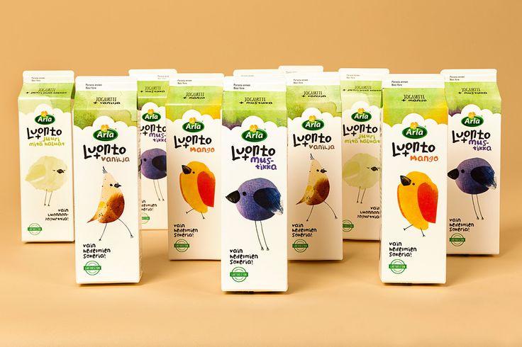Arla Luonto+ Yoghurt on Behance