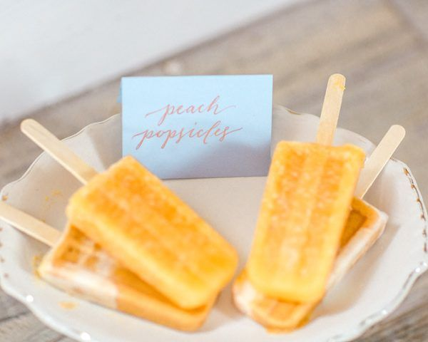 Peach & Copper wedding inspiration // Popsicles by Picnic Pops // Styling by @LandBevents // photo by Mikaela Marie Photography http://ruffledblog.com/peach-and-copper-wedding-inspiration