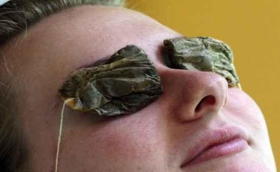 enlever les cernes avec du thé