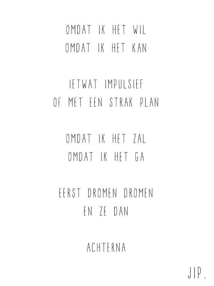 Dutch poem- Gewoon JIP.