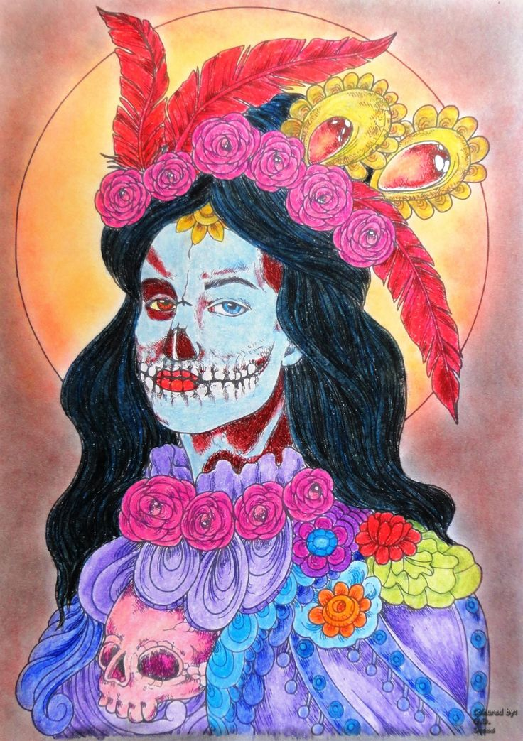Mardel Rubio Halloween book cover freebie Coloured with Prismacolor