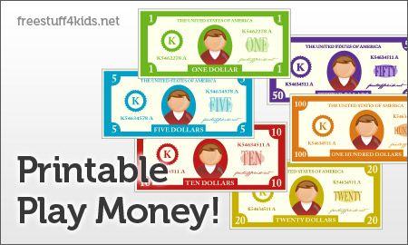 Printable Play Money/Checks
