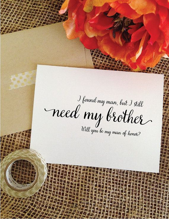 Brother Wedding Gifts on Pinterest Sister wedding gifts, Wedding ...