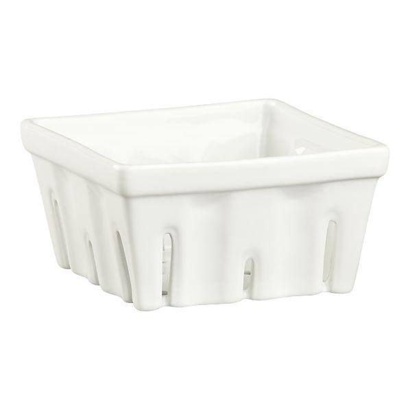 Serve summer berries in a ceramic basket. Crate $6.95