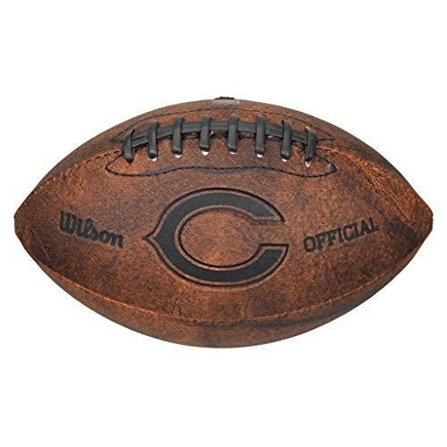 9 NFL Bears Football Composite Leather Brown Color Black Laser Stamped Team Logo Sports Themed Gift Fan Collectible Athletic Spirit