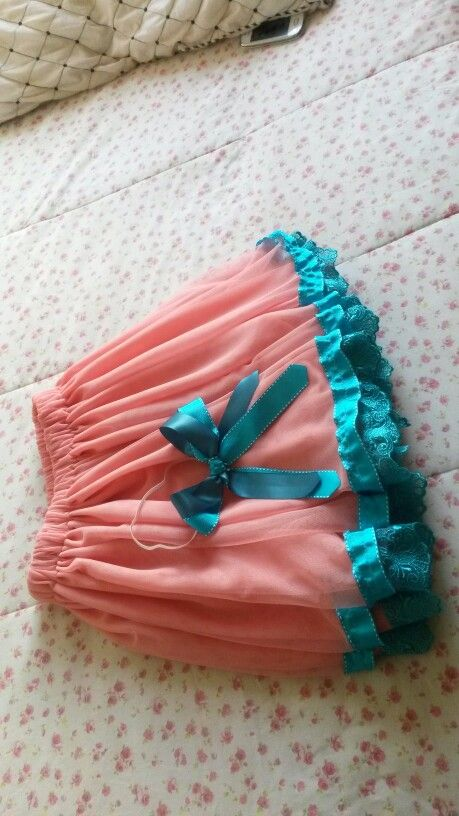 Tulle skirt with lace and ribbon. And a ribbon headband bow.