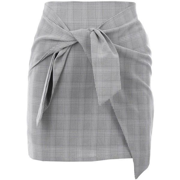Nasty Gal It's a Tie Plaid Skirt (130 PEN) ❤ liked on Polyvore featuring skirts, mini skirts, tartan skirt, tartan plaid mini skirt, tie-dye skirt, high-waisted skirts and high rise skirts