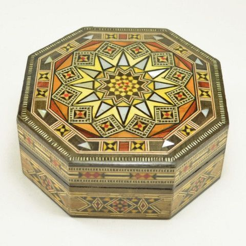 Wood Inlay Box. Handcrafted, small decorative keepsake box featuring mosaic wood inlay. – Dogwood Hill Gifts