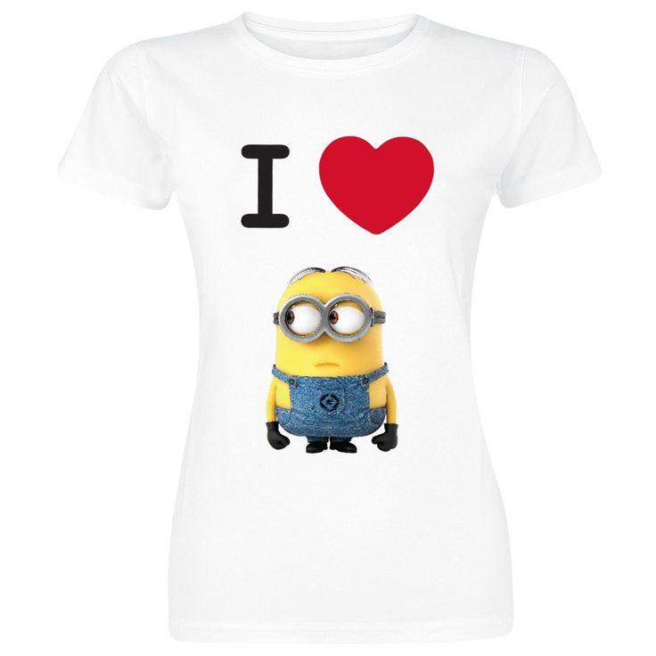 I Love Minions (Naisten T-paita) - Itse Ilkimys 2