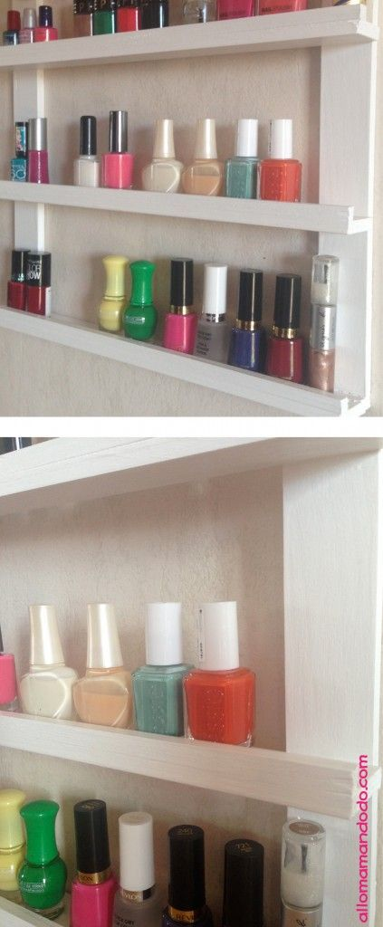 17 meilleures id es propos de tag res vernis ongles - Rangement mural vernis a ongles ...