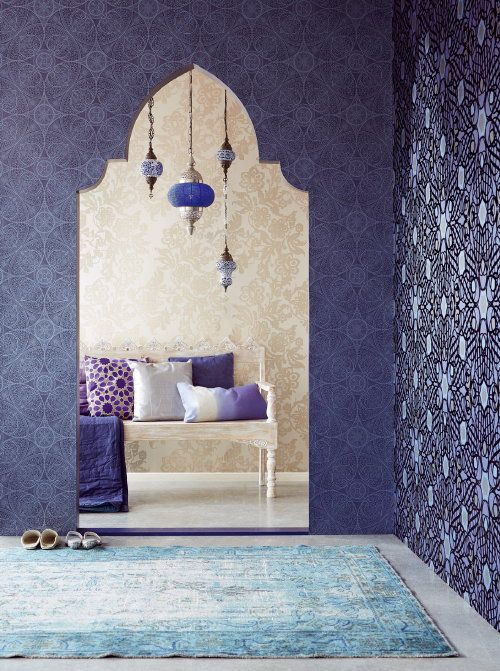 Persian Influences! Newest @Eijffinger® #Wallpaper from the #Eijffinger Yasmin Collection. Beautiful Patterns from Persia! #Behang