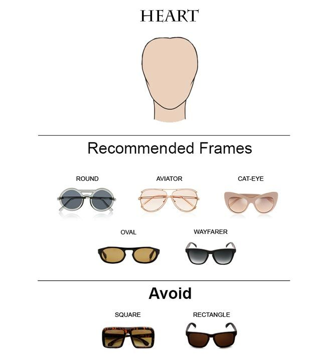 Glass Frames for Heart Face Shape  #glasses #sunglasses #eyeglasses