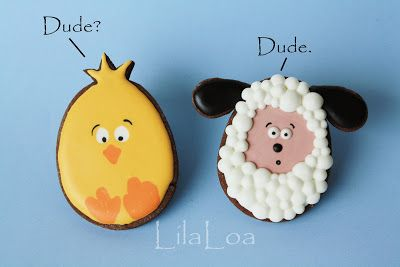 Chick and Lamp~                                    By LilaLoa: This does NOT look like an egg, yellow chick, white, lamb