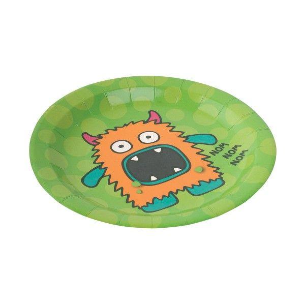 Pappteller Monster Madness, ø 23cm, 8 Stück