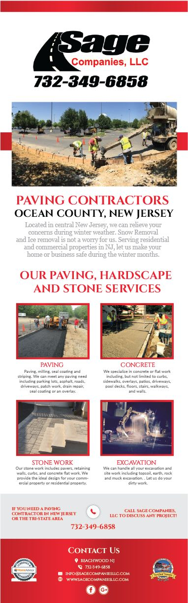Sage Companies, LLC started out as the premier snow and ice removal company for the Tri-State, providing exceptional commercial snow removal services. Over the last 11 years our team of experienced professionals has grown to include experts in the fields of Paving, Concrete, Stone Work, Landscape Planting, Excavation, Demolition, Commercial Renovations and Residential Renovations.