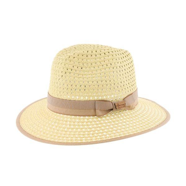 Grand chapeau paille beige et marron Cordy #chapeaupaille @hermanheadwear #mode #bonplan #homme #startup