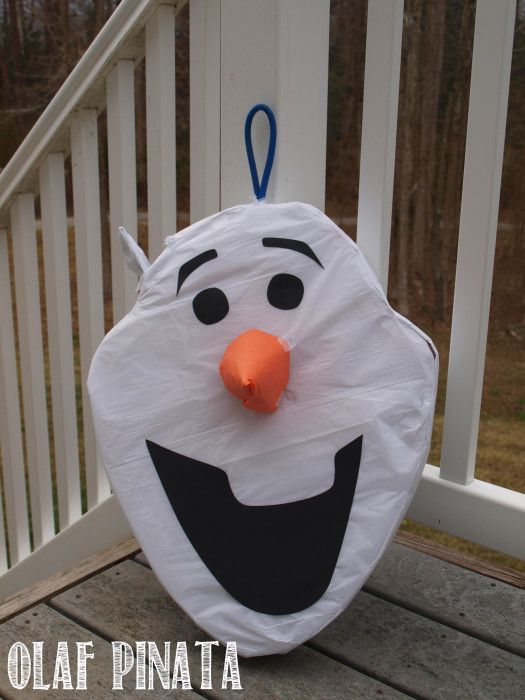 Step by Step Olaf Pinata Tutorial great for a Frozen Party.