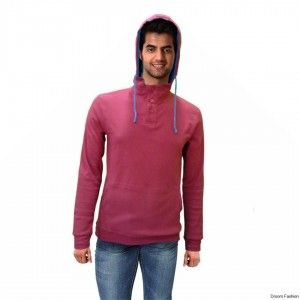 Make a distinct style statement wearing this red coloured sweat jacket from Droom Fashion. This sweatshirt ensures breathability and is skin friendly as well. Buy it now and team this sweatshirt with a pair of denims and sneakers for a smart casual look.