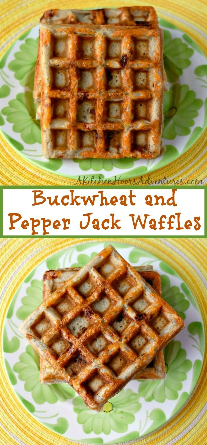 Buckwheat and Pepper Jack Waffles are nutty in flavor with a hint of spice from the Cabot pepper jack cheese. They're perfect topped with poached eggs and hollandaise or rarebit sauce. #BrunchWeek