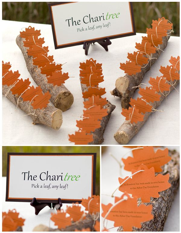 Charitable Donation Wedding Favors
